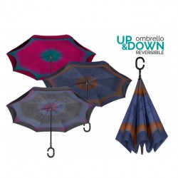 PERLETTI - 26017-BL - UMBRELLA - VARIANT BLUE/BROWN