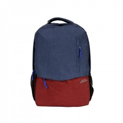 EGON FURSTENBERG - EF-BP701JE/RO - TRAVEL/WORK BACKPACK - JEANS/RED